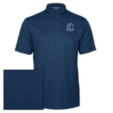 Navy Performance Fine Jacquard Polo-Monarchs Shield
