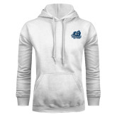 White Fleece Hoodie-Primary Mark