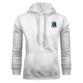 White Fleece Hoodie-Monarchs Shield