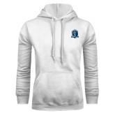 White Fleece Hoodie-Monarchs Shield