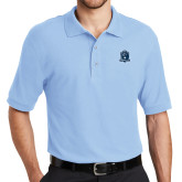 Light Blue Easycare Pique Polo-Monarchs Shield