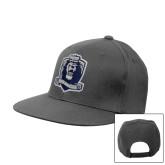 Charcoal Flat Bill Snapback Hat-Monarchs Shield