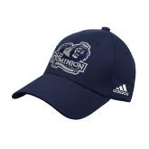 Adidas Navy Structured Adjustable Hat-Primary Mark