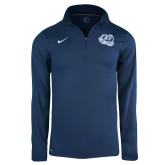 NIKE Solid Element Navy 1/4 Zip-