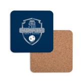 Hardboard Coaster w/Cork Backing-2017 Conference USA Mens Soccer