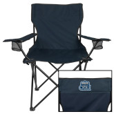 Deluxe Navy Captains Chair-ODU w Crown
