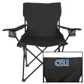 Deluxe Black Captains Chair-Lion Shield
