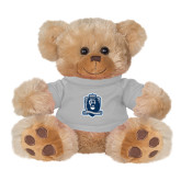 Plush Big Paw 8 1/2 inch Brown Bear w/Grey Shirt-Monarchs Shield