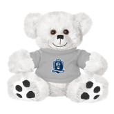 Plush Big Paw 8 1/2 inch White Bear w/Grey Shirt-Monarchs Shield