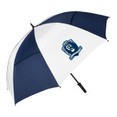 62 Inch Navy/White Umbrella-Monarchs Shield