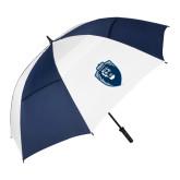 62 Inch Navy/White Umbrella-Lion Shield