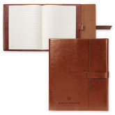 Fabrizio Brown Portfolio w/Loop Closure-Primary University Logo Engraved