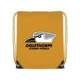 Gold Drawstring Backpack-Primary Athletics Logo