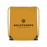 Gold Drawstring Backpack-Primary University Logo