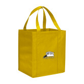 Non Woven Gold Grocery Tote-Athletic Logo
