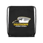 Black Drawstring Backpack-Primary Athletics Logo