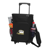 30 Can Black Rolling Cooler Bag-Athletic Logo