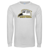 White Long Sleeve T Shirt-Athletic Logo