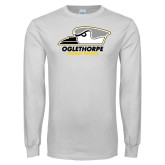 White Long Sleeve T Shirt-Primary Athletics Logo