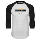 White/Black Raglan Baseball T Shirt-Baseball Design