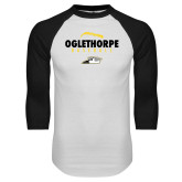 White/Black Raglan Baseball T Shirt-Baseball Seams