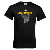 Black T Shirt-Basketball Net Design