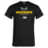 Black T Shirt-Lacrosse Crossed Sticks