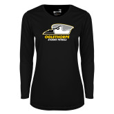 Ladies Syntrel Performance Black Longsleeve Shirt-Primary Athletics Logo