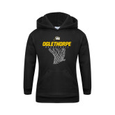 Youth Black Fleece Hoodie-Basketball Net Design
