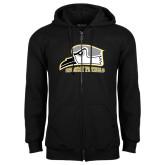 Black Fleece Full Zip Hoodie-Athletic Logo