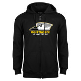 Black Fleece Full Zip Hoodie-Primary Athletics Logo