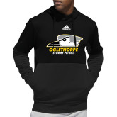Adidas Black Team Issue Hoodie-Primary Athletics Logo