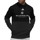 Adidas Black Team Issue Hoodie-Primary University Logo