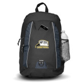 Impulse Black Backpack-Athletic Logo