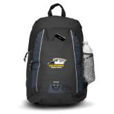 Impulse Black Backpack-Primary Athletics Logo