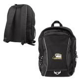 Atlas Black Computer Backpack-Athletic Logo