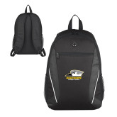 Atlas Black Computer Backpack-Primary Athletics Logo