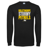 Black Long Sleeve T Shirt-Oglethorpe Stormy Petrels