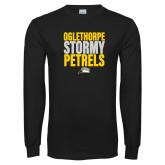 Black Long Sleeve T Shirt-Oglethorpe Stormy Petrels