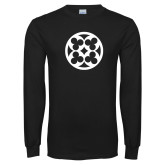 Black Long Sleeve T Shirt-Quatrefoil