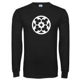 Black Long Sleeve T Shirt-Quatrefoil
