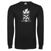 Black Long Sleeve T Shirt-Oglethorpe Crest