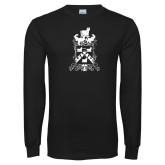 Black Long Sleeve T Shirt-Oglethorpe Crest