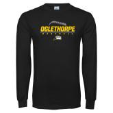 Black Long Sleeve T Shirt-Baseball Design