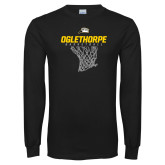 Black Long Sleeve T Shirt-Basketball Net Design