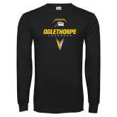 Black Long Sleeve T Shirt-Lacrosse Design