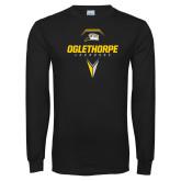 Black Long Sleeve T Shirt-Lacrosse Design