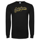 Black Long Sleeve T Shirt-Oglethorpe Script