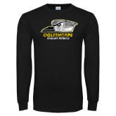 Black Long Sleeve T Shirt-Primary Athletics Mark Distressed