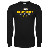 Black Long Sleeve T Shirt-Abstract Basketball